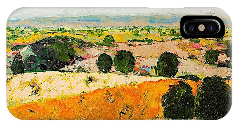 Landscape IPhone X Case featuring the painting Crossing Paradise by Allan P Friedlander