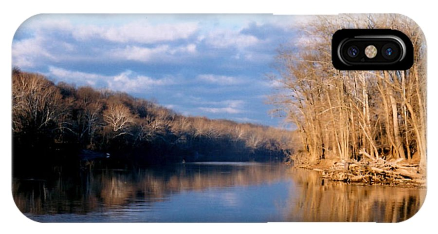 River IPhone X Case featuring the photograph Crossing The River On Low Water Bridge by Laura Corebello