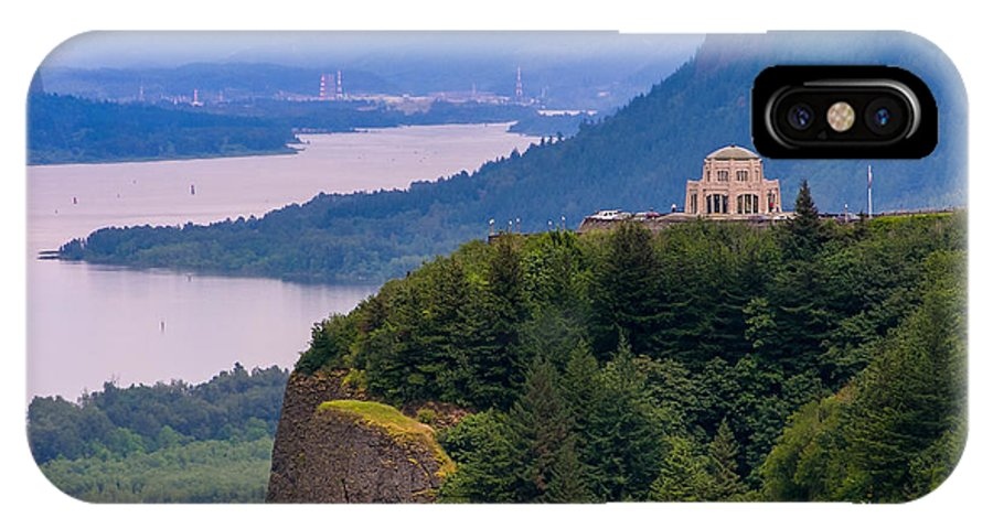 Crown Point In Columbia River Gorge IPhone X Case featuring the photograph Crown Point 3 by Mike Penney