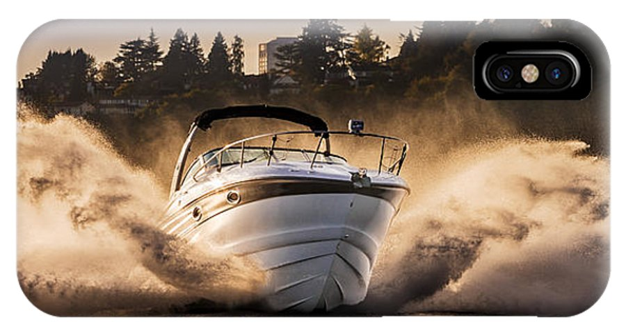 Crownline Boat IPhone X Case featuring the photograph Crownline Boat by Mike Penney