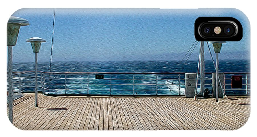 Sky IPhone X Case featuring the photograph Cruising The Pacific by John M Bailey