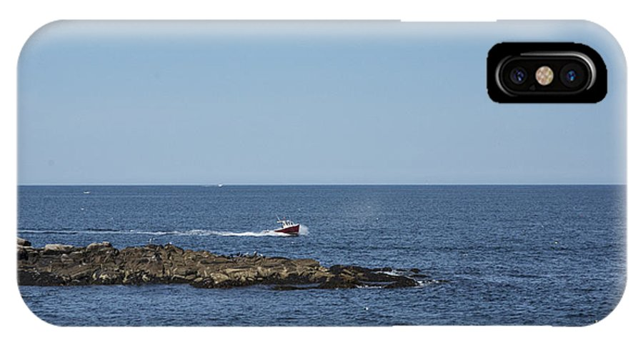 Boat IPhone X Case featuring the photograph Cruising To Port by Ruth H Curtis