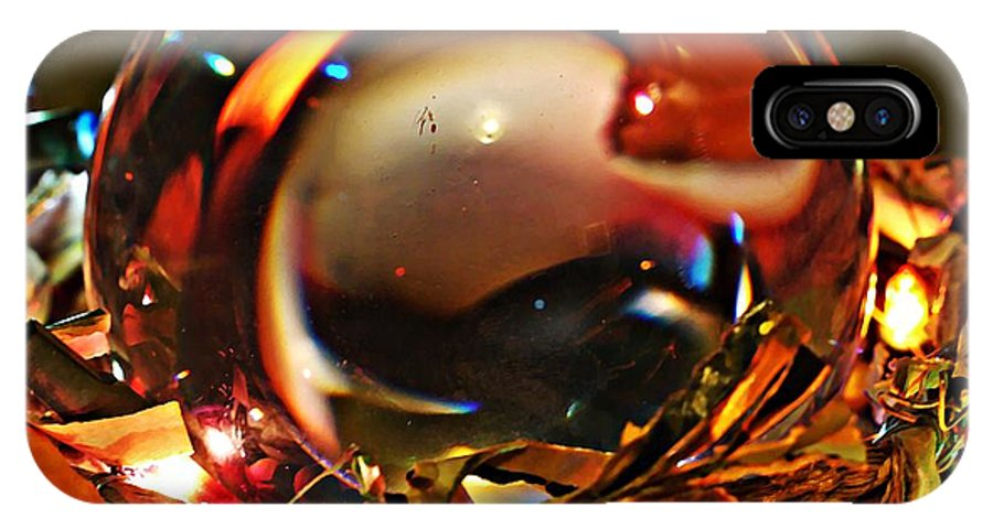 Crystal Ball Project 16 IPhone X Case featuring the photograph Crystal Ball Project 16 by Sarah Loft