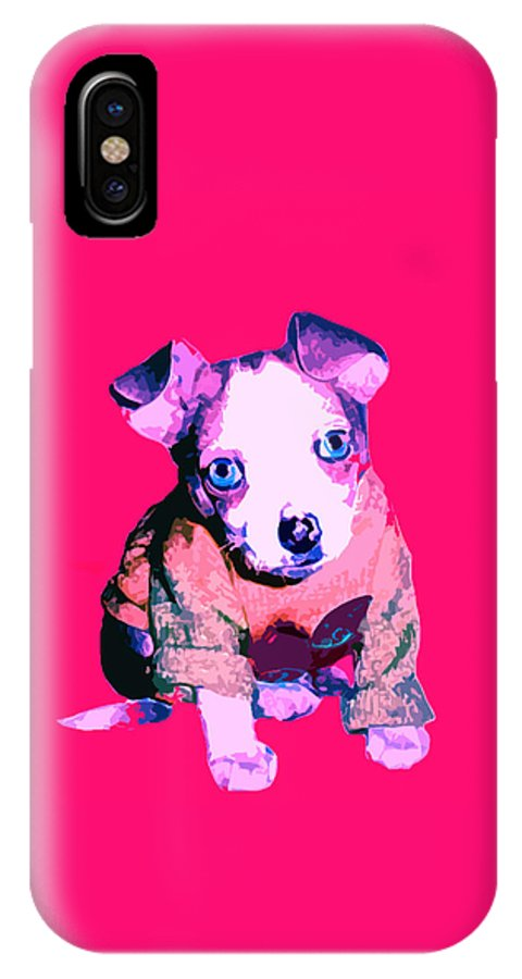 Chihuahua IPhone X Case featuring the photograph Crystal Warhol by Leah Delano