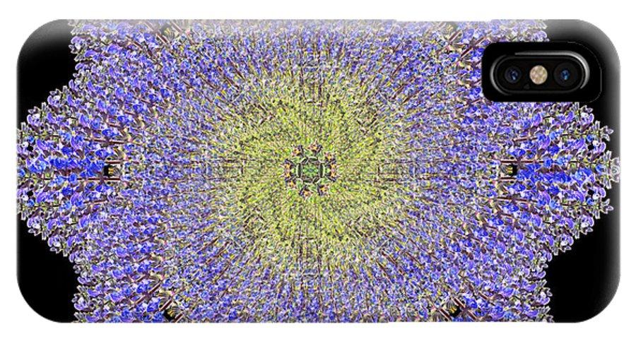 Mandala IPhone X Case featuring the photograph Crystal Blue Salvia by Karen Jordan Allen