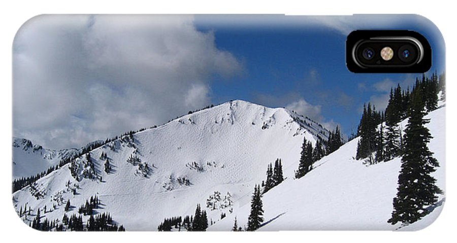 Kym Backland IPhone X Case featuring the photograph Crystal Mountain Bluest Sky by Kym Backland