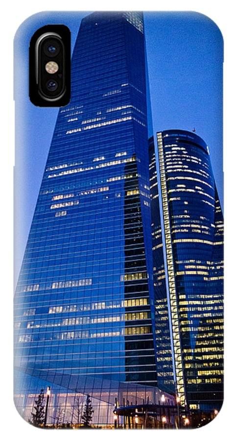 Plaza IPhone X Case featuring the photograph Cuatro Torres Business Area by Pablo Lopez