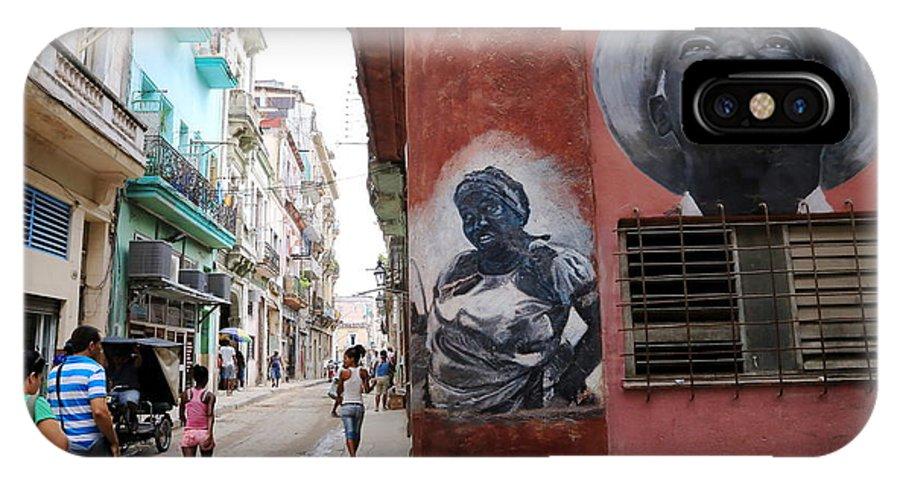 Street Art IPhone X Case featuring the photograph Cuban Street Art 3 by Marc Levine