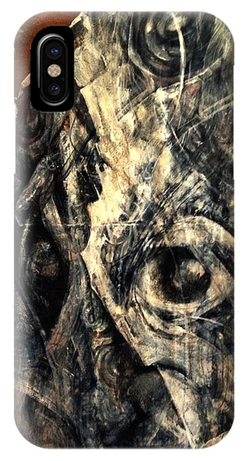 Face IPhone X Case featuring the painting Cubisto 2.5 by Eddie Rifkind