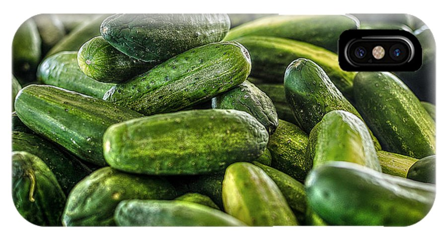 Cucumbers IPhone X Case featuring the photograph Cucumbers by David Morefield