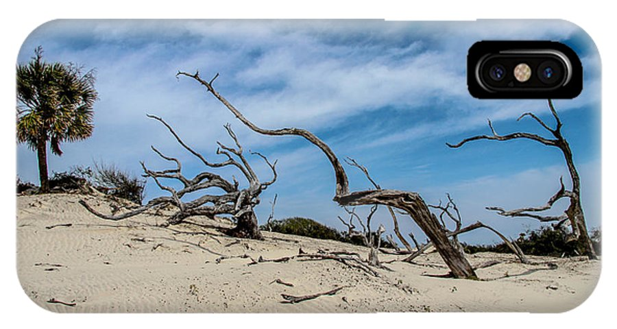 Cumberland Island IPhone X Case featuring the photograph Cumberland Island Dunes by Scott Moore