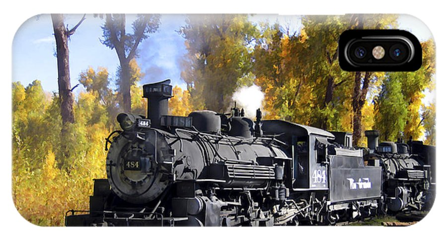 Train IPhone X Case featuring the photograph Cumbres And Toltec Railroad by Kurt Van Wagner