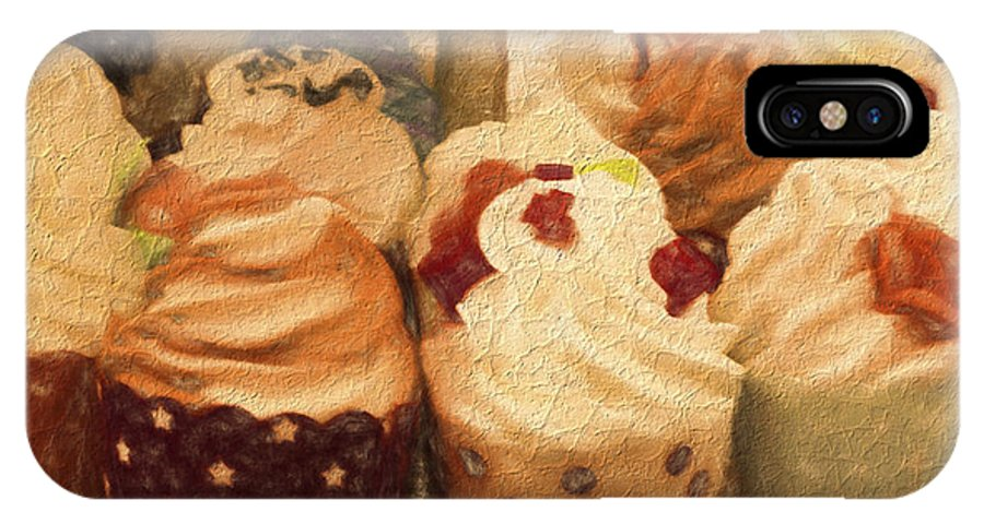 Cupcakes IPhone X Case featuring the photograph Cupcakes by Gillian Singleton