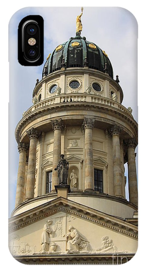 Cupola IPhone X Case featuring the photograph Cupola French Dome - Berlin by Christiane Schulze Art And Photography