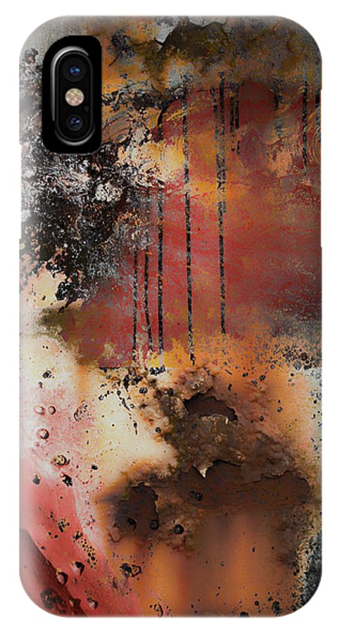 Rust IPhone X Case featuring the photograph Curb The Corrosion by The Artist Project