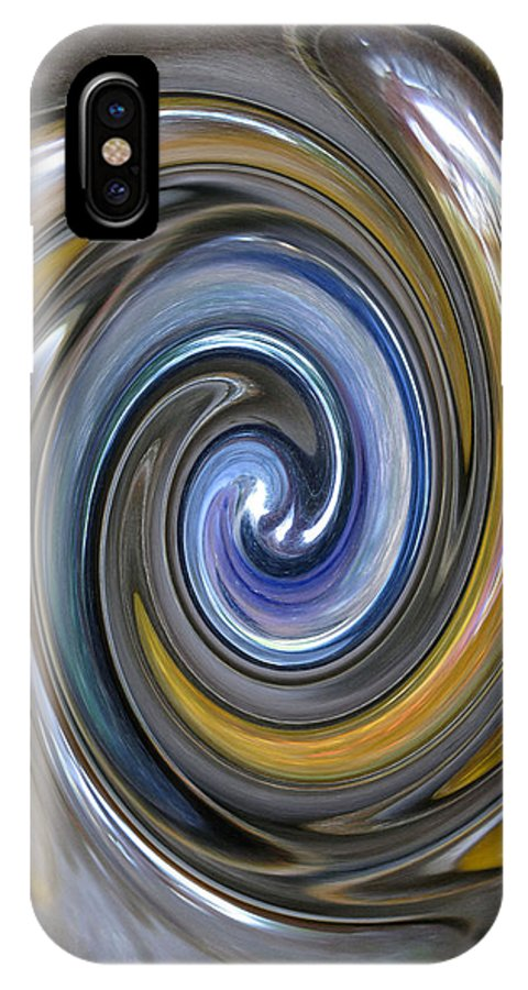 Swirl IPhone X Case featuring the photograph Curlicue Twirl by Carolyn Jacob