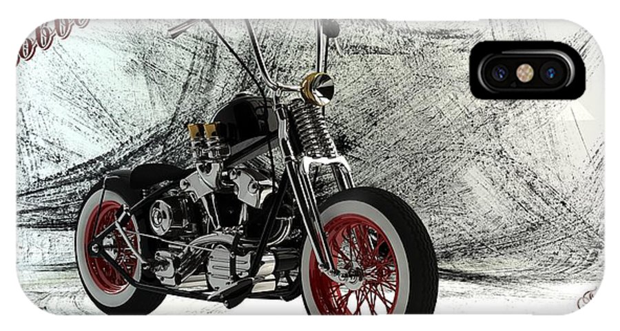 Bobber IPhone X Case featuring the digital art Custom Bobber by Louis Ferreira