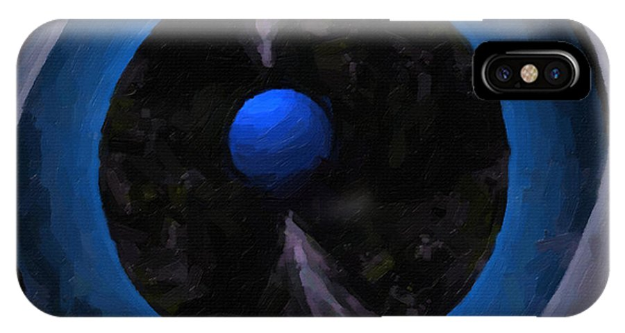 Cyberspace IPhone X Case featuring the digital art Cyber Eye by Dee Flouton