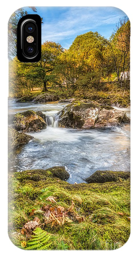 Autumn IPhone X Case featuring the photograph Cyfyng Falls by Adrian Evans
