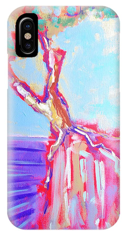Ocean IPhone X Case featuring the painting Cypress by Kurt Hausmann