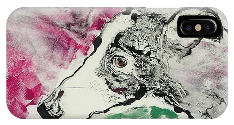 Greyhound IPhone Case featuring the painting Cyrus by Cori Solomon
