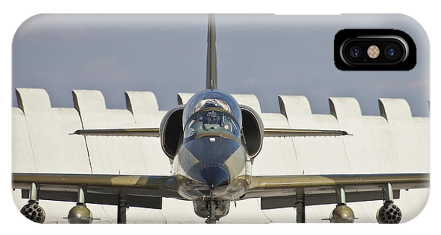 Czech Republic IPhone X Case featuring the photograph Czech Air Force L-39za Albatros by Timm Ziegenthaler