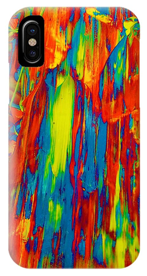 Original IPhone X Case featuring the painting D Mas Gras by Artist Ai