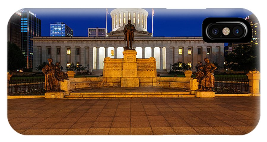 Ohio IPhone X Case featuring the photograph D13l112 Ohio Statehouse Photo by Ohio Stock Photography