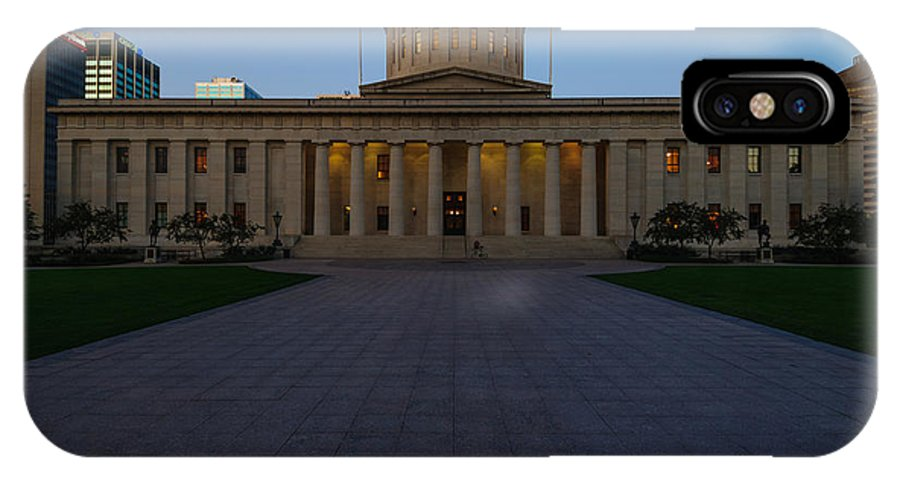 Ohio IPhone X Case featuring the photograph D13l83 Ohio Statehouse Photo by Ohio Stock Photography