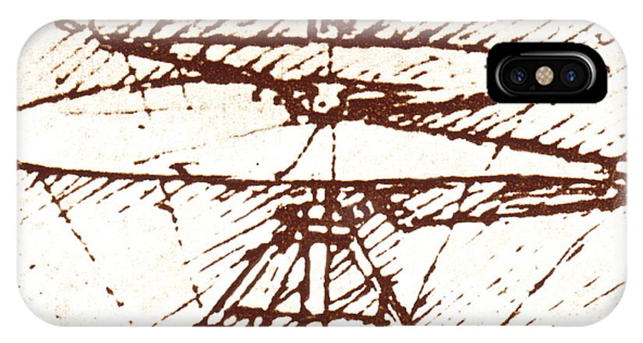 Aircraft IPhone X Case featuring the photograph Da Vinci's Helicopter by Sheila Terry/science Photo Library