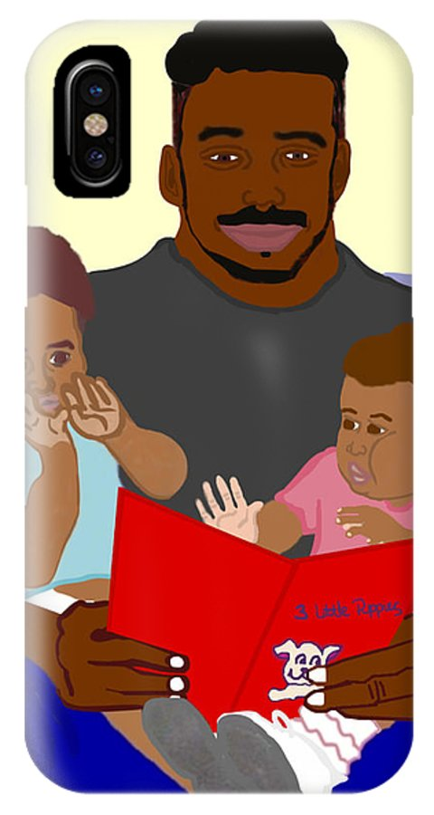 Dad IPhone X Case featuring the painting Daddy's Bundles by Pharris Art