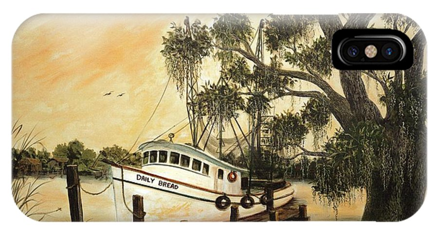Cajun IPhone X Case featuring the painting Daily Bread by Nancy Cason