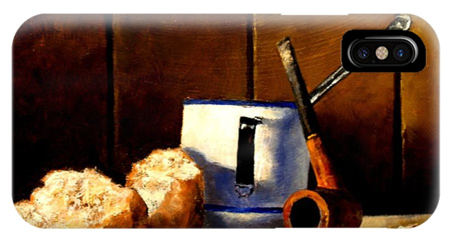 Still Life IPhone X Case featuring the painting Daily Bread Ver 1 by Jim Gola