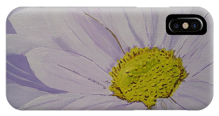 Daisy IPhone X / XS Case featuring the painting Daisy by Anthony Dunphy