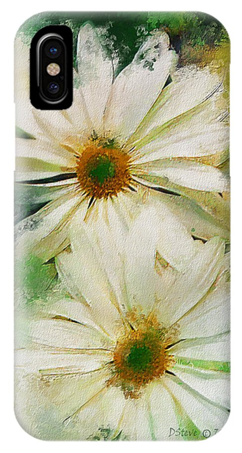 Paintings IPhone X Case featuring the digital art Daisy Love by Don Steve