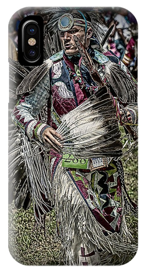 Indians IPhone X Case featuring the photograph Dance In Color by Michael Carruolo