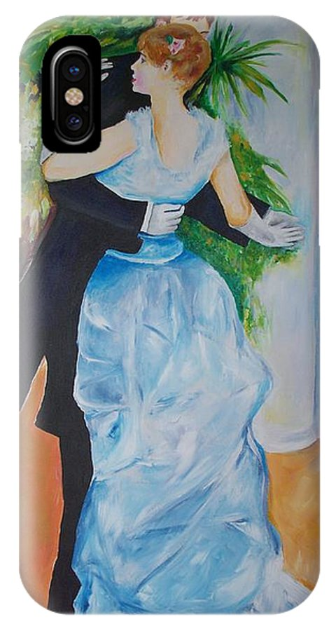 Lavender IPhone Case featuring the painting Dance In The City by Eric Schiabor