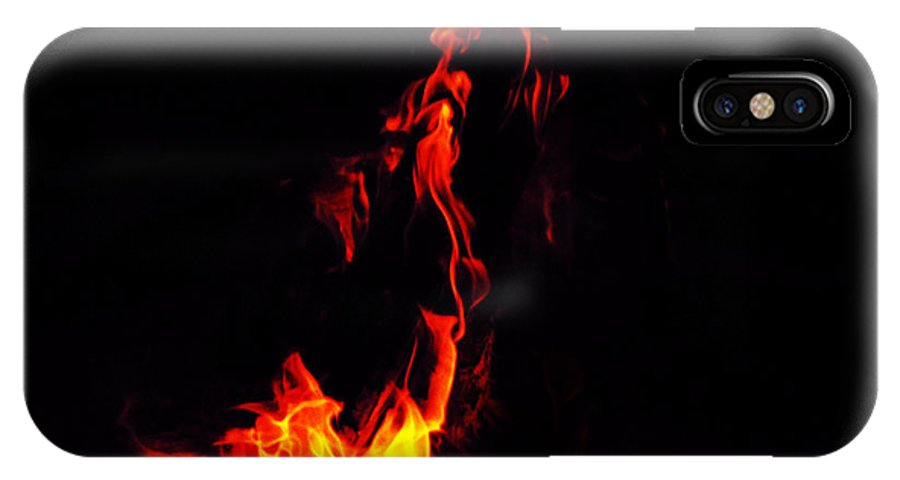 Fire IPhone X Case featuring the mixed media Dance by Tim Anderson