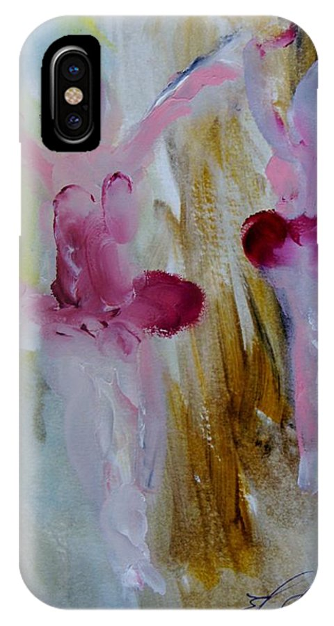 Dance IPhone X Case featuring the painting Dancers 142 by Edward Wolverton