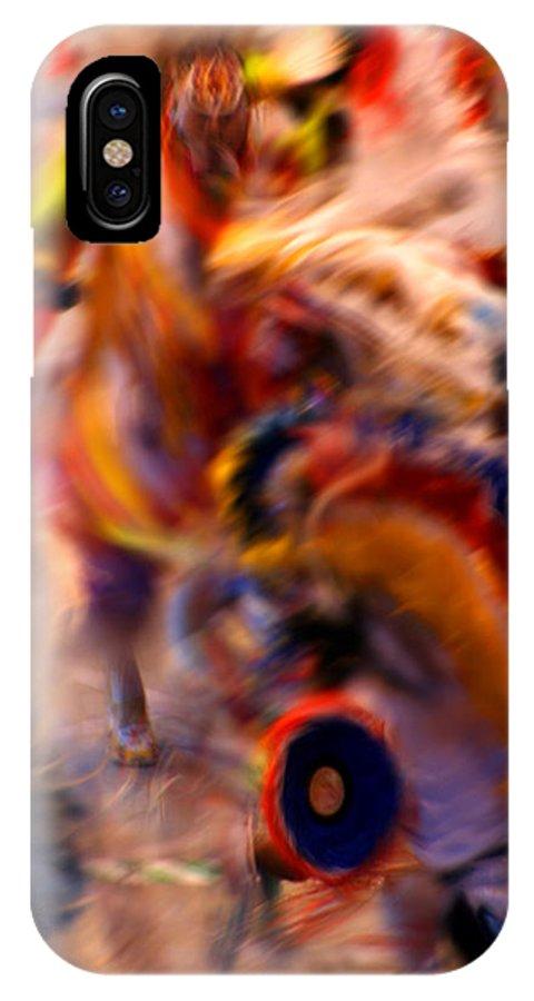 Pow Wow IPhone X Case featuring the photograph Dancers by Joe Kozlowski