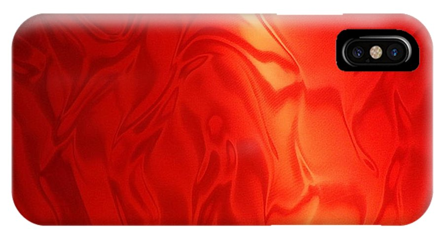 Fabric IPhone X Case featuring the photograph Dancing In The Fire Abstract by Lingfai Leung