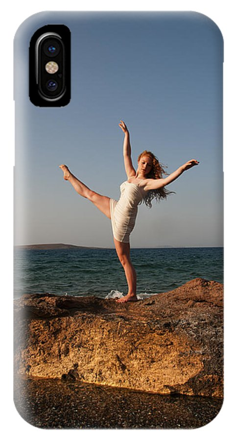 Dance IPhone X Case featuring the photograph Dancing On The Rocks by Manolis Tsantakis