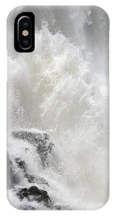 Waterfall IPhone X Case featuring the photograph Dancing Waters by Ginny Barklow