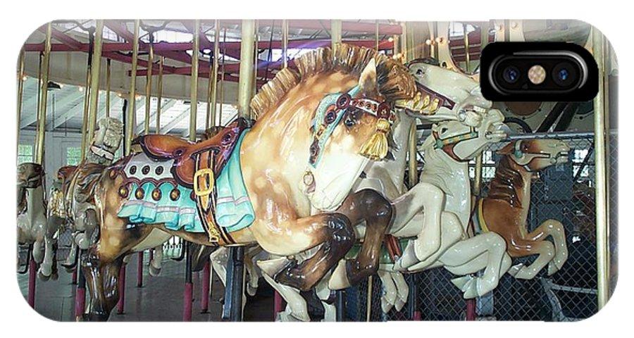c F Johnson Park Ny IPhone X Case featuring the photograph Dapled Pony by Barbara McDevitt
