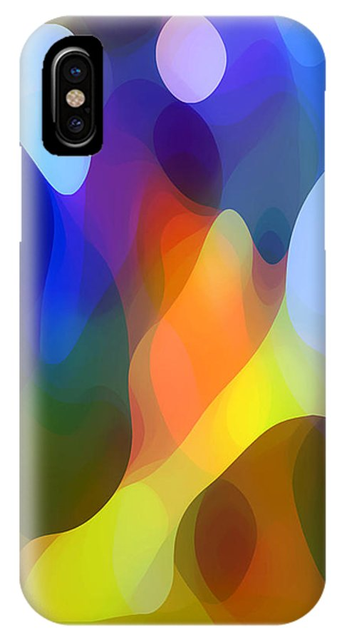 Abstract Art IPhone X Case featuring the painting Dappled Light by Amy Vangsgard