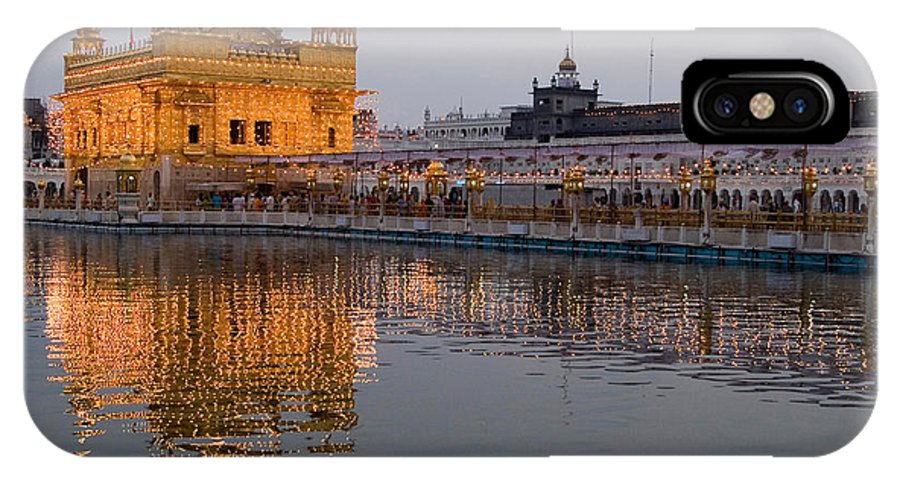 Golden Temple IPhone X Case featuring the photograph Darbar Sahib by Devinder Sangha