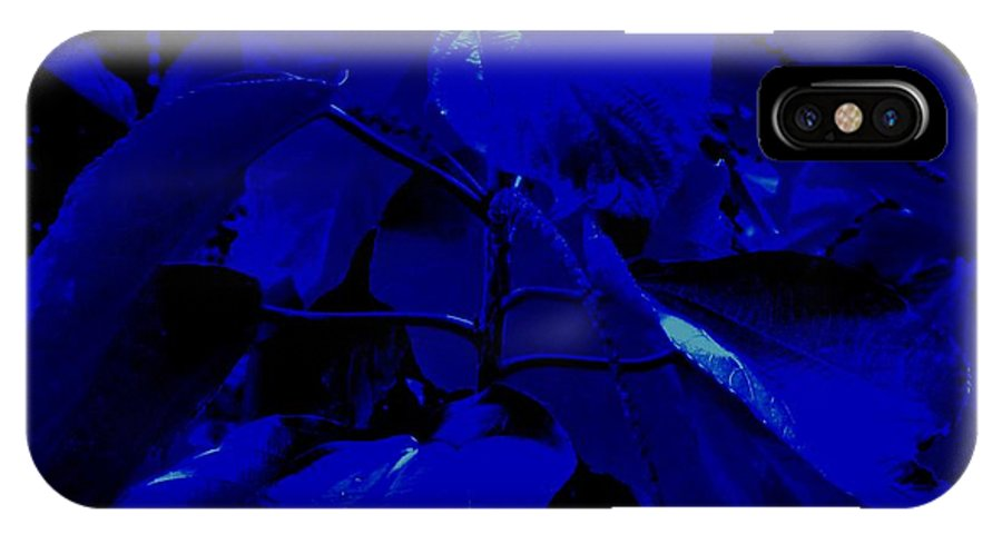 Leaves IPhone Case featuring the photograph Dark Blue Leaves by Ian MacDonald