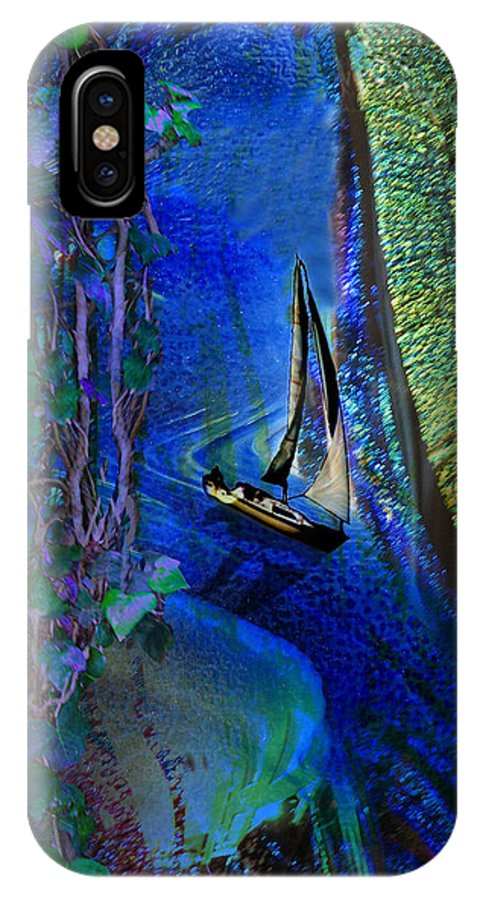 Dark River IPhone Case featuring the digital art Dark River by Lisa Yount