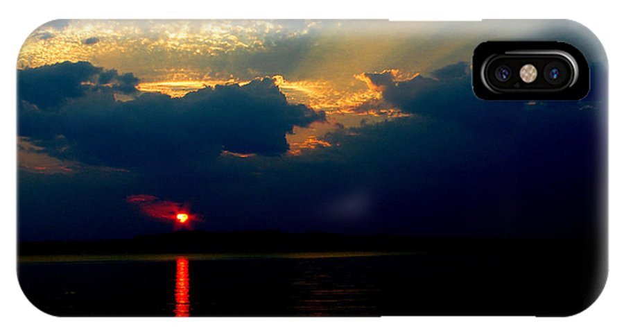 Sunset Landscape IPhone X Case featuring the photograph Cloudy Sunset by James C Thomas