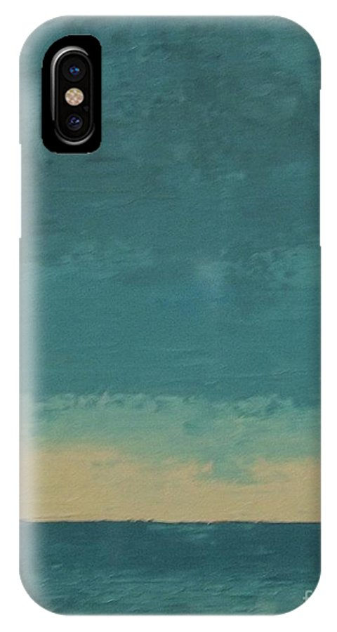 Landscapes IPhone X Case featuring the painting Dark Waters by Gail Kent